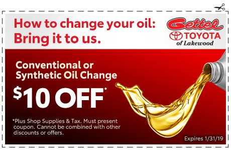 Oil Change Coupon | Gettel Toyota of Lakewood Specials ...